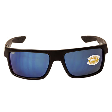 Costa Del Mar MTU01OBMP Men's Motu Polarized Plastic 580P Blue Mirror Lens Blackout Frame Sunglasses