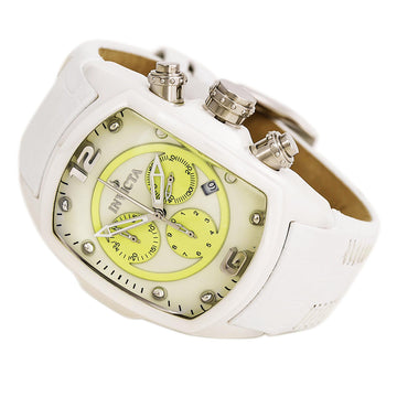 Invicta 10284 Men's Lupah White Ceramic White & Lime Green Dial Chronograph Watch