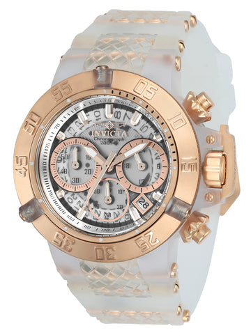 Invicta 24374 Women's Subaqua Noma III Chrono Silicone & Plastic Strap Transparent Dial Dive Watch
