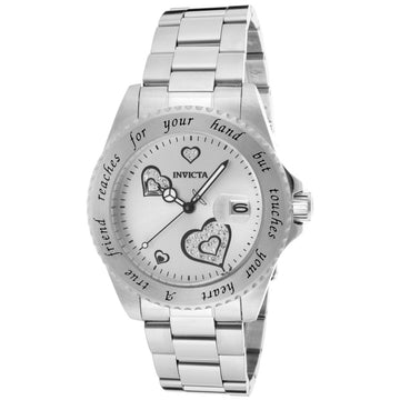 Invicta Women's Stainless Steel Watch - Angel True Friend Quartz Silver Dial | 14729