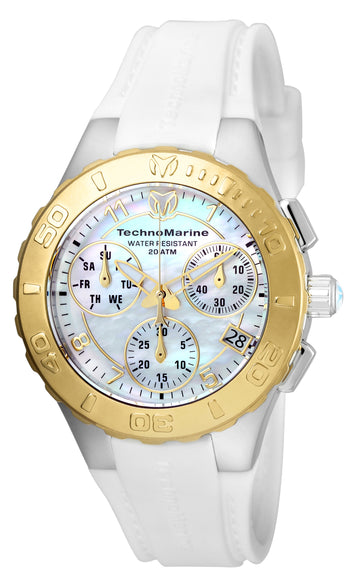 Technomarine Women's Chronograph Watch - Cruise Medusa Quartz MOP Dial | TM-115089