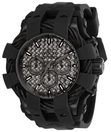 Invicta Men's Chronograph Watch - Bolt Sport Black Carbon Fiber Dial | 23865