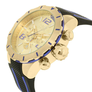 Invicta 20107 Men's S1 Rally Gold Tone Dial Black & Blue Polyurethane Strap Chronograph Watch