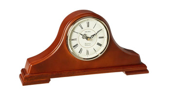 Seiko Wood Mantel Clock - Traditional Tambour White Dial | QXJ008BLH