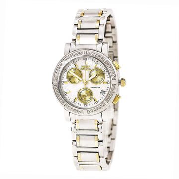 Invicta Women's Chronograph Two Tone Bracelet Watch - Wildflower MOP Dial Date | 4770