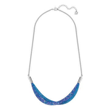 Swarovski Women's Necklace - Stardust Blue Crystal Short Twist Fishnet Tube | 5199804