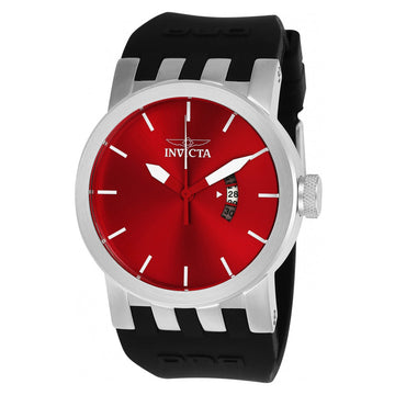 Invicta 25052 Men's DNA Red Dial Black Silicone Strap Watch