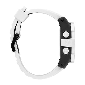 Nixon Men's Alarm Watch - Unit 40 SW Chrono White & Grey Dial White Band | A490SW2243
