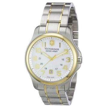 Swiss Army 241364 Women's Officers White MOP Dial Two Tone Steel Watch