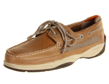 Sperry 0777924 Men's Lanyard Linen Leather & Stain 2-Eye Boat Shoe