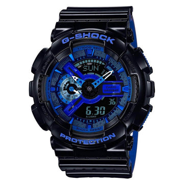 Casio Men's Alarm Watch - G-Shock Dive Ana-Digital Blue & Black Dial | GA110LPA-1A