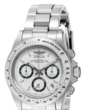 Invicta Men's Chronograph Steel Watch - Speedway Signature Quartz White Dial | 7025