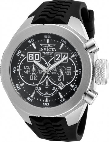 Invicta 16926 Men's I-Force Quartz Chronograph Black Dial Silicone Strap Watch