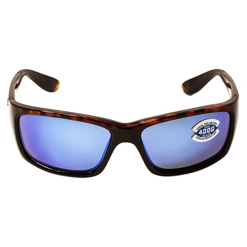 Costa Del Mar JO10BMGLP Men's Jose Polarized Glass 400G Blue Mirror Lens Tortoise Frame Sunglasses