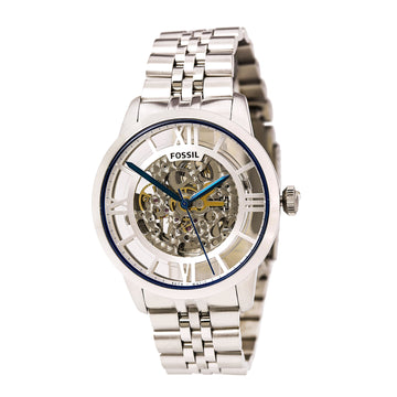 Fossil ME3044 Men's Stailess Steel Bracelet Automatic Townsman Transparent Skeleton Dial Watch