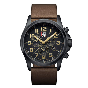 Luminox Men's Chronograph Watch - Land Atacama Field Leather Band Swiss Quartz | 1949