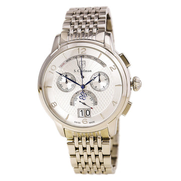S. Coifman SC0183 Men's Silver Dial Steel Bracelet Chronograph Day Date Watch