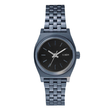 Nixon Women's Bracelet Watch - Small Time Teller Indigo Blue Steel | A3991929