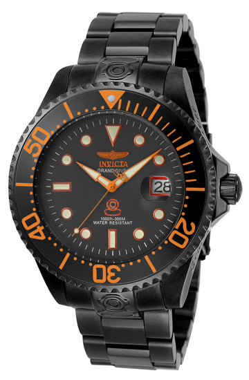Invicta Men's Automatic Watch - Grand Diver Charcoal Dial Gunmetal IP Steel | 22216