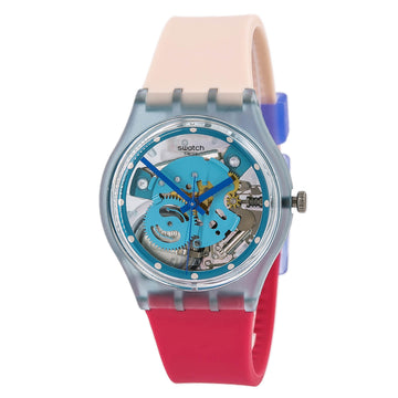 Swatch GL118 A Traveler's Dream Women's Silicone Strap Watch