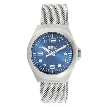 Traser Men's Bracelet Watch - P59 Essential M Blue Dial Stainless Steel | 108205
