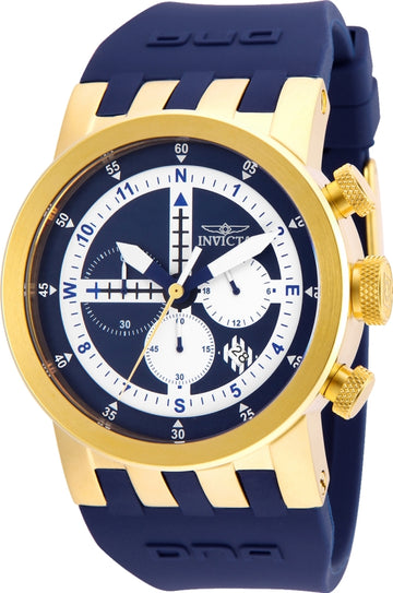 Invicta 25048 Men's DNA Blue & White Dial Blue Silicone Strap Chronograph Compass Watch