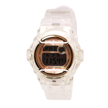 Casio Women's Alarm Watch - Baby-G Digital Dial Transparent Strap | BG169G-7B