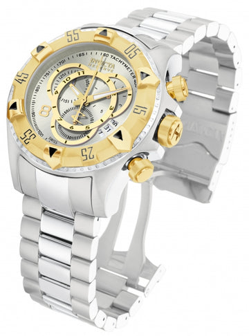 Invicta 1877 Men's Steel Bracelet Swiss Quartz Reserve Excursion Chrono Silver Dial Date Watch