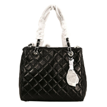 Michael Kors 30H5SAHT1L-001 Black Quilted Lamb Leather Susannah Women's Small Shoulder Tote