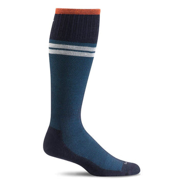 Sockwell Men's Knee High Socks - Sportster Graduated Compression, Navy | SW19M