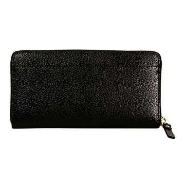 Kate Spade WLRU2155-001 Grand Street Neda Zip Around Women's Black Leather Wallet