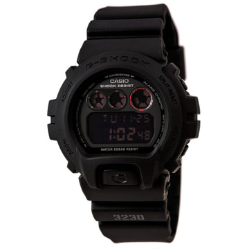 Casio Men's Alarm Watch - G-Shock Classic Dive Digital Black Dial | DW6900MS-1