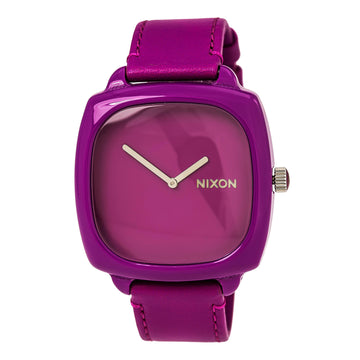 Nixon A167698 Women's The Shutter Purple Leather Strap Quartz Purple