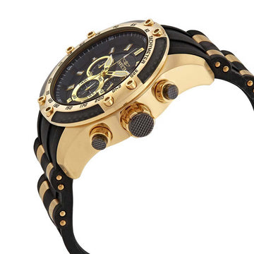 Invicta Men's Chronograph Watch - Speedway Black Glass Fiber Dial | 25940