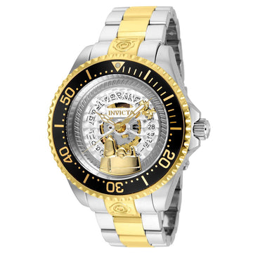 Invicta 24910 Men's Snoopy Grand Diver Skeleton Dial Two Tone Bracelet Dive Watch