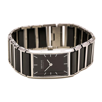 Bering 30121-742 Women's Ceramic Black Dial Steel & Black Ceramic Bracelet Watch