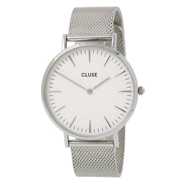 Cluse CL18105 Women's Steel Mesh Bracelet Quartz White Watch