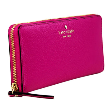 Kate Spade WLRU2155-686 Grand Street Neda Zip Around Women's Pink Leather Wallet
