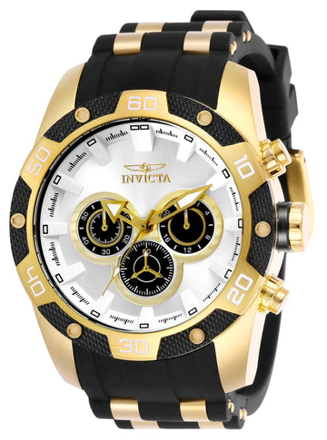 Invicta Men's Chronograph Watch - Speedway Quartz Silver & Black Dial | 25834