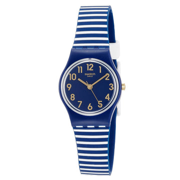 Swatch LN153 Women's Core Ora D'aria Navy Blue Dial Watch