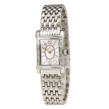 Bulova 96R48 Women's Diamond White Dial Stainless Steel Bracelet Quartz Watch