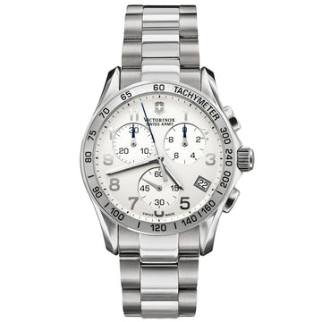 Swiss Army 241315 Men's Chrono Classic Silver Dial Stainless Steel Watch