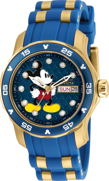 Invicta Women's Steel & Silicone Strap Watch - Disney Edition Blue Dial | 23771