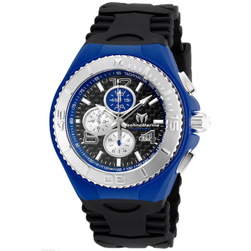 Technomarine Men's Chrono Watch - Cruise Jellyfish Black Silicone Strap | TM-115297