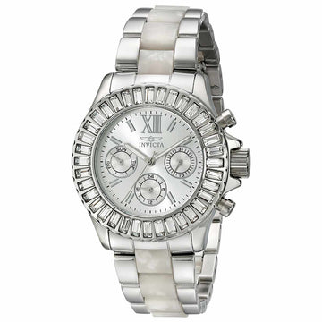 Invicta 18867 Women's Angel Silver Dial Steel & Plastic Bracelet Crystal Watch