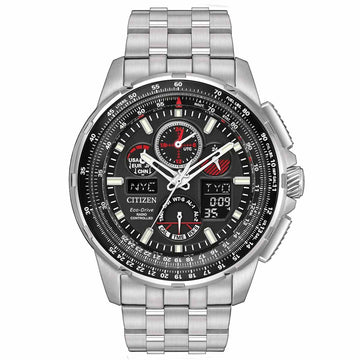 Citizen Men's Chronograph Watch - Skyhawk A-T Eco Drive Ana-Digi Dial Steel Bracelet