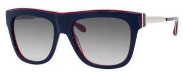 Marc Jacobs MMJ293S07V5 Blue Red White Frame Wayfarer Grey Gradient Lenses Women's Sunglasses