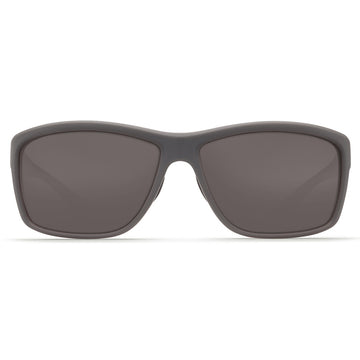 Costa Del Mar AA98OGGLP Men's Mag Bay Polarized Grey 580G Lens Matte Grey Frame Sunglasses