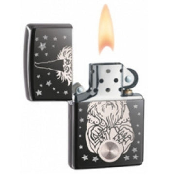 Zippo 28644 Black Ice Wizard Fantasy Classic Windproof Pocket Lighter