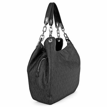Michael Kors Women's Hobo Shoulder Bag - Logo Black PVC Fulton Large | 30H4SFTL3B-001